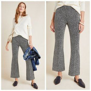 Anthropologie | NWT Essential Leopard Crop Flare Trousers